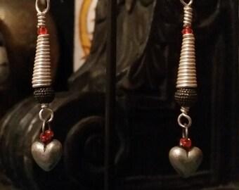 Sterling silver wirework earrings