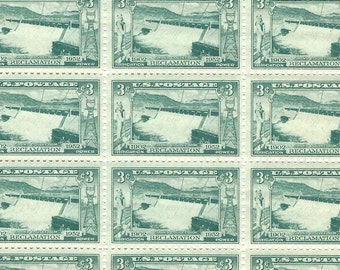10 Unused Grand Coulee Dam US Postage Stamps 3 Cents 1952 Stamp #1009 Green Craft Supply or Mail Envelopes DIY Washington State Water 7526a