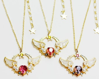 Sailor Moon Necklace - New Lovely Moon Princess (Made to order)