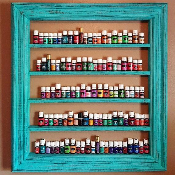 oil shelf nail polish shelf essential oil storage wood. Black Bedroom Furniture Sets. Home Design Ideas