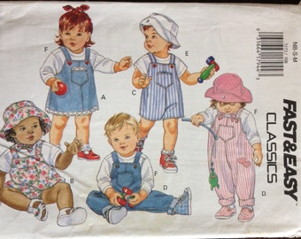 Butterick 3172 - Fast and Easy Infant's Jumper, Jumpsuit, Top and Hat