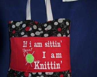 Knitting Bag  unique bespoke gift for mum or nanna