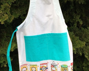 Candy apron, kid apron, adjustable apron, children apron, apron, gift for kid, tea towel apron, childs apron, gifts for girls, kids baking