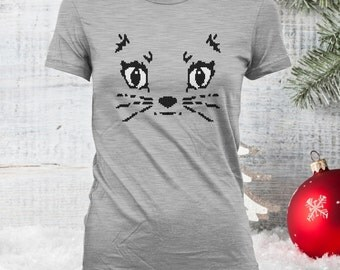 Cat Shirt, Auntie Bella Hunt for Wilder People Shirt, Crazy Cat Lady Shirt, Holiday Shirt, Christmas Sweater, Xmas, Cat Lover Gifts CT-872