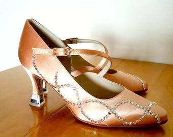 Custom Crystallizing for Dance Shoes