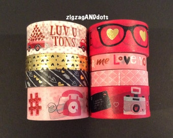 WS V3: Valentine  Washi Tape Samples, 24 Inches, FREE Samples Available, Scrapbooking, Cardmaking, Planner  Decorations, Recollections