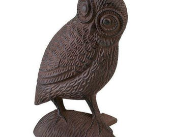 Cast Iron Owl Doorstop - Country Cottage Style Home Decor