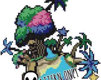 Kingdom Hearts Destiny Island Cross Stitch Pattern
