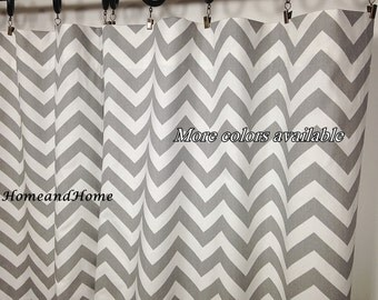 Curtains Ideas chevron curtains grey : Gray chevron curtain | Etsy