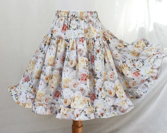 Toddler Girl Skirt Toddler Skirt Rose Floral Toddler Girl Clothes Ruffle Skirt Twirl Skirt Spring Toddler Clothing Size 12m 18m 2T 3T 4 5 6