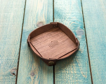 Best Leather tray | Wooden tray | Wallet tray | Desk organizer | Catchall
