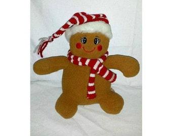 Vintage Gingerbread Doll,Dan Dee Gingerbread Plushie,Plush Gingerbread Doll,Stuffed Gingerbread Doll,Dan Dee,Gingerbread,Stocking Stuffer