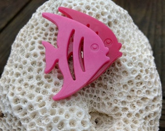 Retro Moonfish Brooch - Pink - 90's - Animal