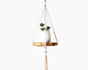 Macrame Plant Hanger, Macrame Pot Holder, Plant Holder, Hanging Planter, Fruit Bowl Holder, Shelf Macrame, Gifts for Her, Christmas Gift