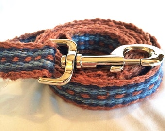 5 foot hand dyed and woven hemp dog leash