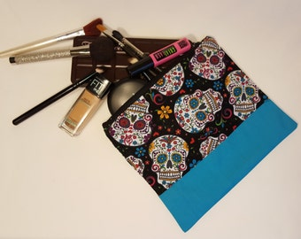 Day of the Dead / Dias de los Muertos Bag - Makeup Bag - Nerdy Gifts for Her - Geeky gift