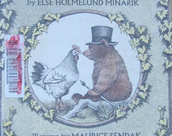 A Kiss for Little Bear - Vintage Illusrated Children's Story Book - An I Can Read Book