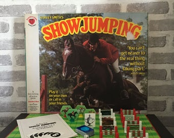 Vintage Harvey Smiths Horse Show Jumping Board Game - Denys Fisher 1975 - Complete