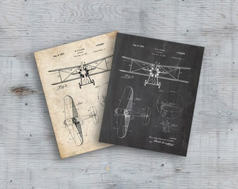 75% OFF SALE - Airplane Patent Art, Airplane Decor, Airplane Art, Aviation Patent, Aviation Poster, Airplane Poster, Biplane Art, Biplane