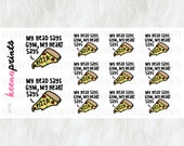 A776 | HEART SAYS Pizza Stickers - Daily Planner Stickers, Diary Stickers, Journal Stickers, Scrapbook stickers