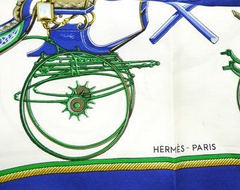 Hermes Les Voitures A Transformation vintage Silk Scarf Original 1965 Edition