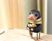 Niffler bookmark / Christmas gifts / Fantastic Beasts Where to Find Them / Magical Creatures / Sculpture Harry Potter / personalized gift