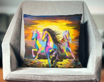 Horse Gifts | Horse Decor | Equestrian Decor | Horse Pillow | Equestrian Gifts | Equestrian Pillow | Horse Gifts for Girls |