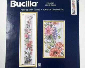 cross stitch bellpull chart, Bucilla Flowers Birds & Butterflies