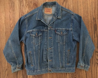 Vintage Levi's Denim Jacket - Levi's Jean Jacket - Levi's Denim Jacket - L/XL