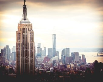 New York Skyline Print - New York City Skyline Print, NYC Print, Empire State Print - New York Photography Print