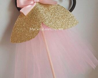 Pink Gold Centerpiece/Girl Centerpiece/Princess Centerpiece/Princess Dress Centerpiece/Pink Gold Princess Centerpiece/Silver Princess Center