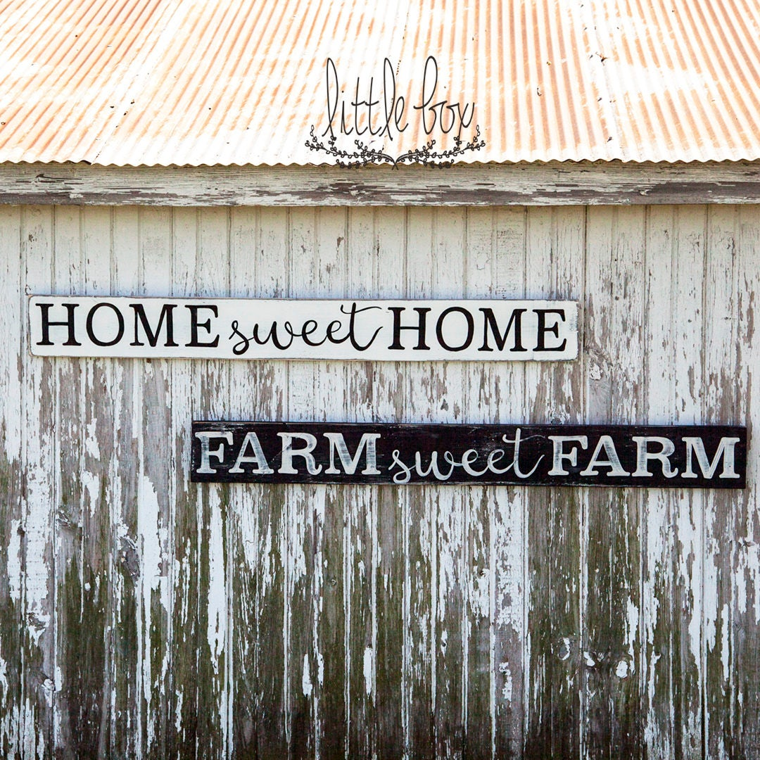 Home sweet Home Sign, Farm sweet Farm Sign, Farmhouse Sign ...