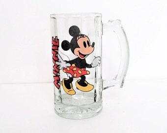 Vintage Minnie Mouse Beer Mug, Beer Stein, Disney beer Mug, soda mug