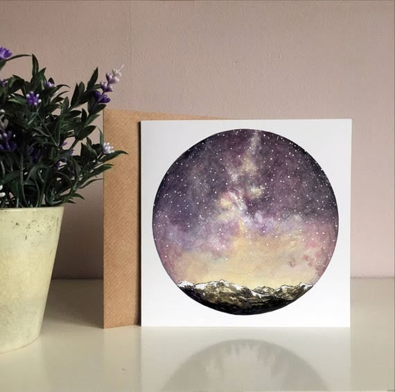 Meteor Shower Greetings Card