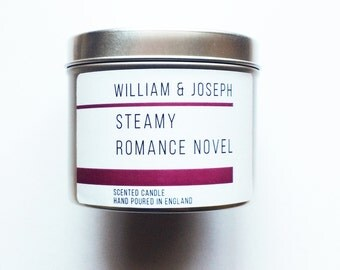 Steamy Romance Novel Candle   Fifty Shades of Grey, 50 Shades of Grey, Bookish gifts, literary gifts, book candles, Bookish Candles