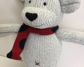 A Handmade Cute Bear Doll. Animal handmade doll. Textile doll, Home Decoration doll, Good Gift For Cool Friends.