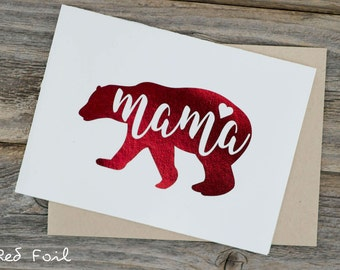 Mother's Day Card | Mamabear Foiled - Cards with Envelope, Birthday Cards, New Mom Cards