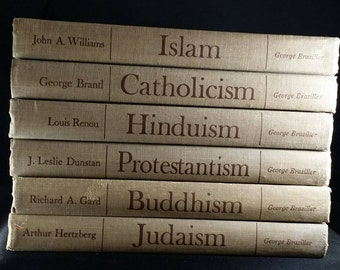 Theology books, Great Religions of Modern Man book series, Religious books, Catholicism, Islam, Hinduism, Protestantism, Judaism, Buddhism