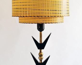 Mid Century Majestic 2 Tier Fiberglass Shade Sculptural Floor Lamp