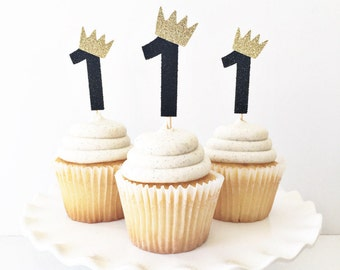 ONE Cupcake Toppers / Where The Wild Things Are Cupcake Toppers / First Birthday Party Theme / 1st Birthday Decor / Boy Birthday / Wild One