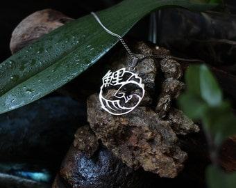 Koi (CARP/Fish) silver/Silver necklace 925