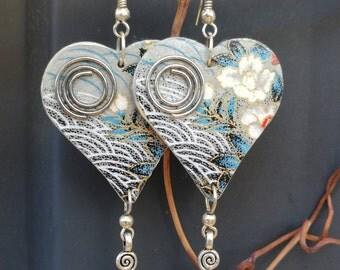 Japanese Boho Silver Earrings