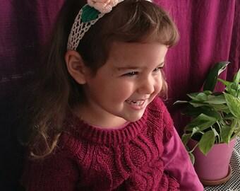Pink Baby Headband | 6 Months to 5 Years Wedding Girl Headband, Flower Girl Headband, Headband Baby, Baby Girl Headband, Flower Headband
