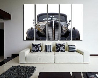 Old Buick Wall Art Multi Panels Set Retro Car Wall Art Cars Canvas Art Old Car Wall Art Retro Print Poster Buick Wall Decor Canvas