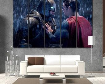 Superhero Superman Batman Marvel canvas Batman Poster Superman canvas Batman Wall art Comics Superman Print Batman Print Superhero Wall Art