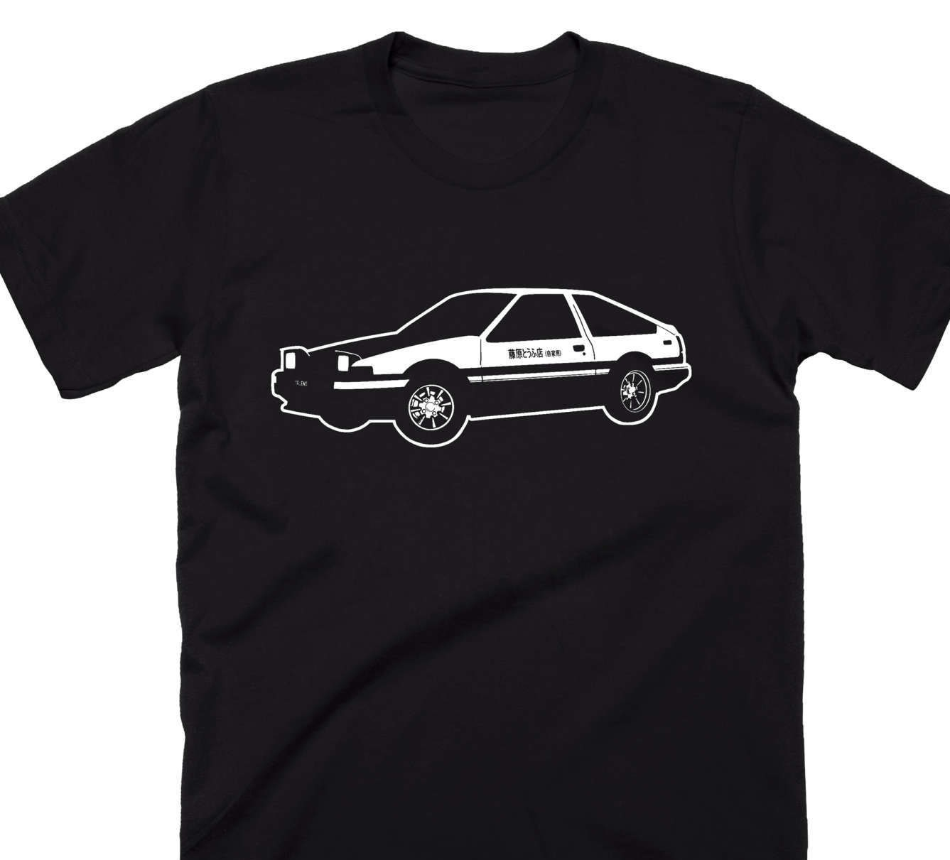 Initial D Shirt Toyota AE86 TRUENO Japanese Writing Japan