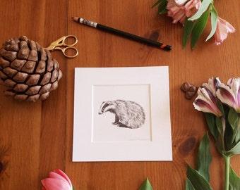 badger miniature print