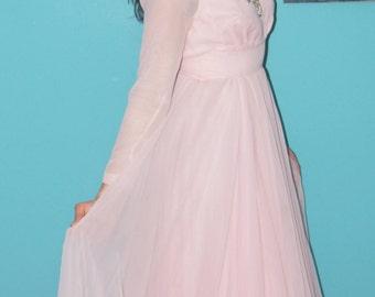 1960's Lillie Rubin Chiffon Evening Gown