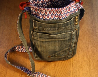 Handbag recycled Jeans fabric