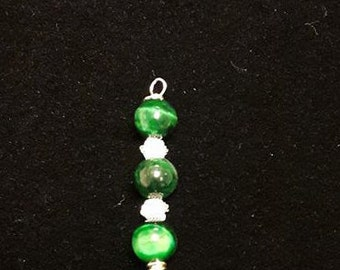 Green Tigers Eye Earrings and Pendant